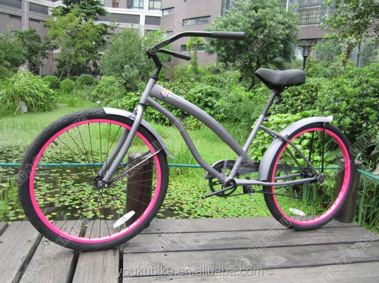 Customized 26 Inch Mans chopper bicycle Beach Cruiser Bike/ beach cruiser bicycle