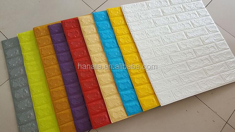 interior decoration 3D brick wallpaper colorful pe foam material tile