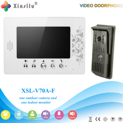 XSL-V70A-F 1V1 XSL Manufacturer 2016 7 Inch Color Video Door Phone Intercom System Smart Home Door phone