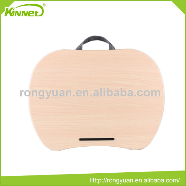 High quality portable PP fiber ribbon handle MDF top best portable laptop desk