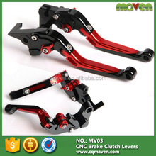 CNC Machined Motorcycle Adjustable Foldable Extendable Brake Clutch Lever Set Design For Honda GROM MSX 125 MSX125 2014