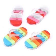 Promotional rainbow color mini slipper shaped eraser