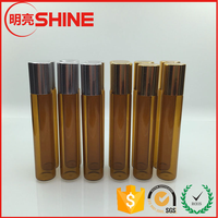 1/3 oz Roll-on 10ml Amber Glass Roll-on Perfume Bottle with Roller Ball
