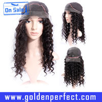 Jerry Curl Silk Top Long Brazilian Full Lace Wig With Baby Hairs