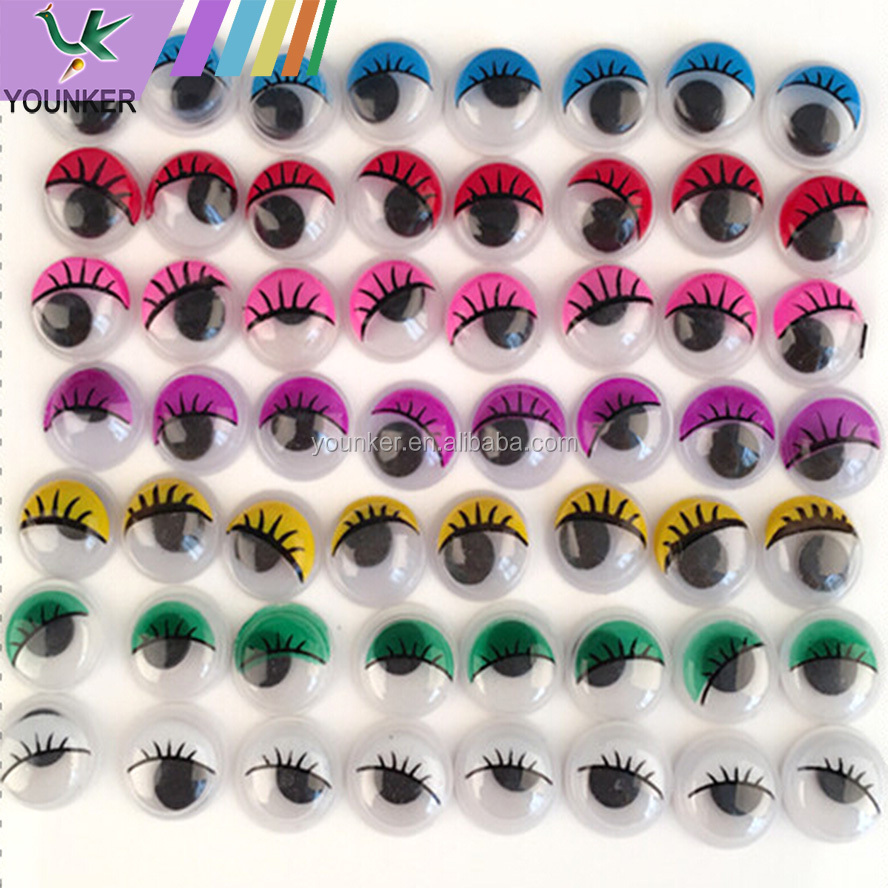 Colored Plastic Doll Eyes Google Eyes DIY Craft Moving Wiggle Eyes