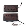 50/52mm Rose Wood Electric Guitar Humbucker Pickups & Screws Set of 2