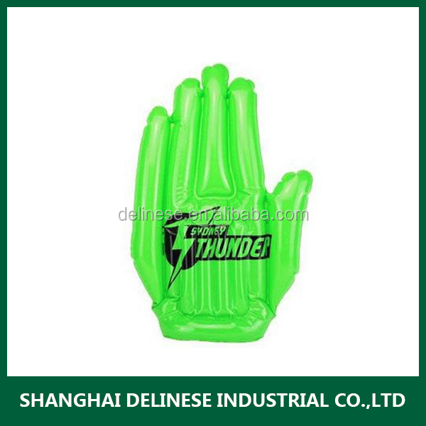 PVC inflatable victory hand with logo