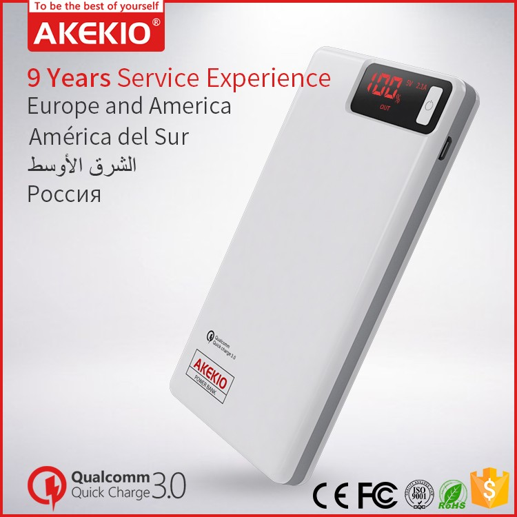 Akekio new electronic devices High quality portable holder advertising universal power bank 8000mah for all mobile phones