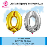 Different size number balloon popular wholesale festival items