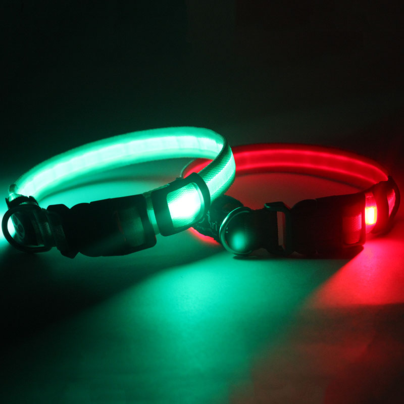 New products 2019 innovative product customized led dog collar and leash sample free