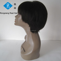 Cheap wholesale factory price 100% human hair lace front wig men