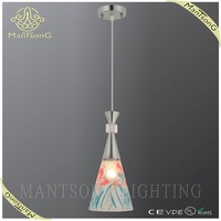 2015 best selling vintage hand blown glass flower pendant light
