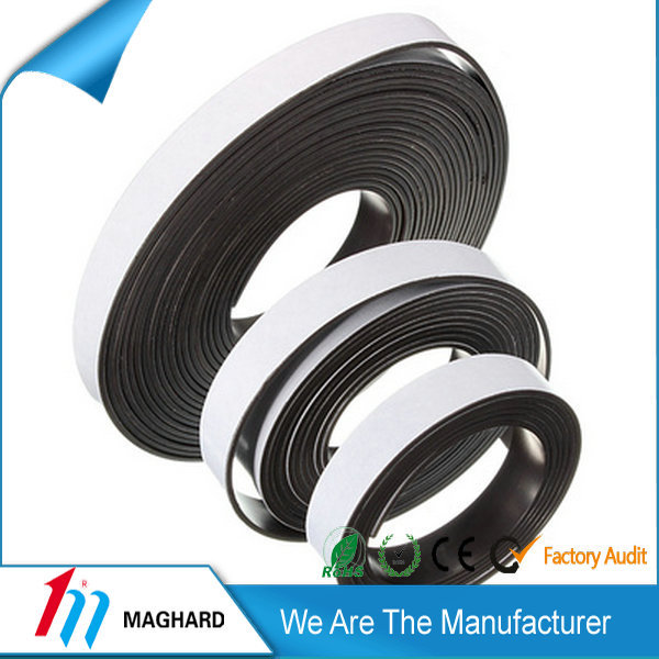 self adhesive extrusion isotropic flexible rubber magnetic strip tape