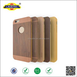 shockproof Wood + TPU back cover case For iPhone 6 plus