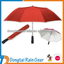 Big Size large 2 Folding Umbrella Golf size with silver coating uv protect