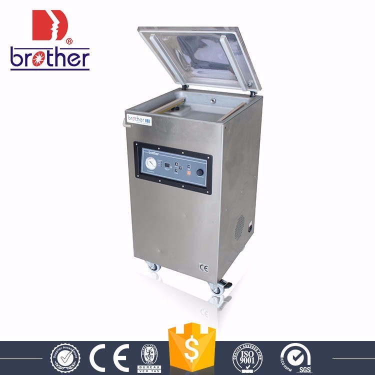 VM(Q)600E commercial aluminum foil single chamber clothes food vacuum sealer packaging machine