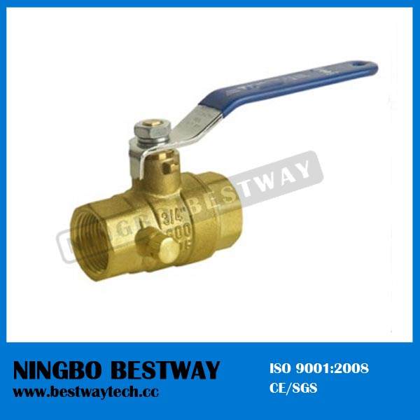 FIP x FIP No lead Brass Ball Valve with Drain