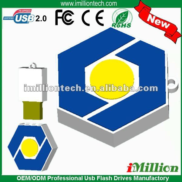Ideal design custom bagua mirror shaped usb sticks for promotional gift