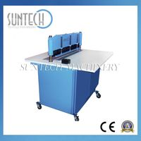 HRC63-65 MOTORIZED FABRIC SAMPLE CUTTING MACHINE, FABRIC SWATCH CUTTER