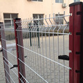 pvc coated welded mesh garden fence panel
