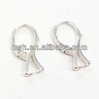 H1192 Sterling Silver Earring Leverback /Silver Earwire with Clip