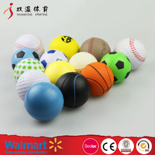 stress ball custom DIY logo pattern design toy, wholesale cheap face emoji and ball type pu anti stress ball