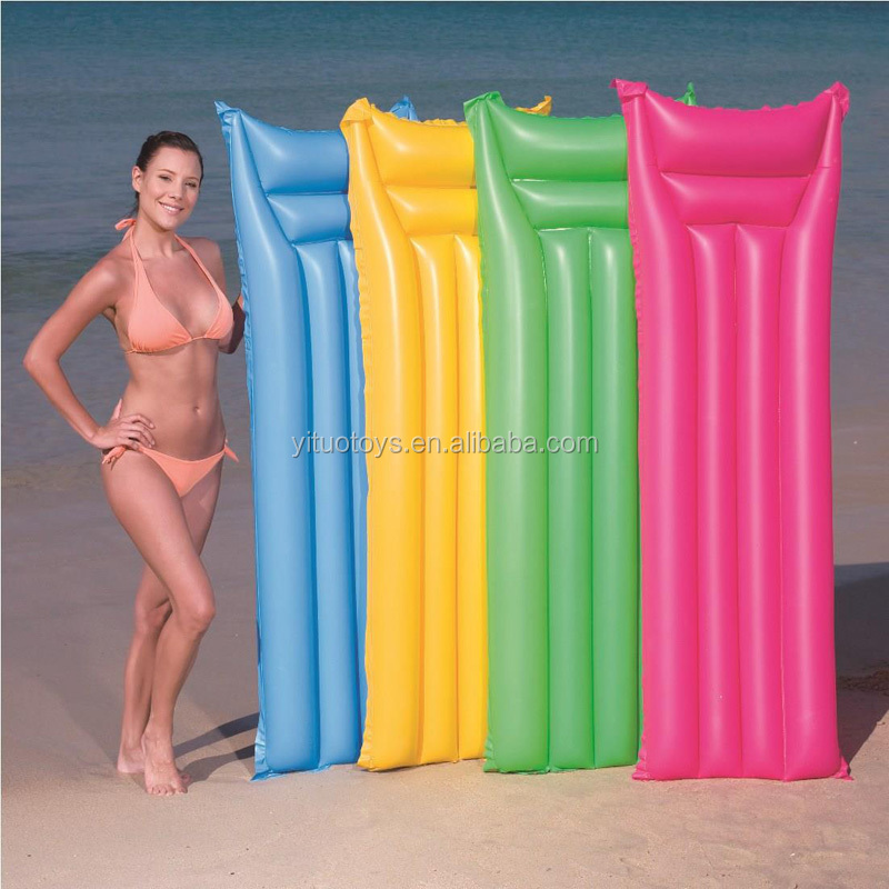 Adults size PVC pool floating air mattress inflatable beach lilo for promotion