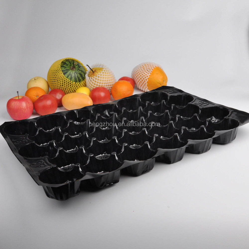 Pear Black Shining Flash Foam Plastic Fruit Tray price for sale