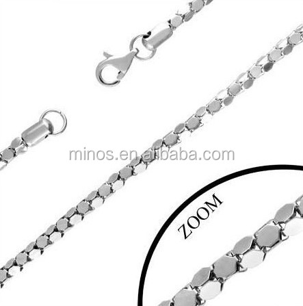 Mens Necklace Stainless Steel Unusual Link 22in