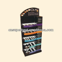 retail acrylic make up display shelf with 5 tiers