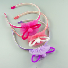 Cute kids cheap balls hair accessories,bowknot hair headbands wholesale