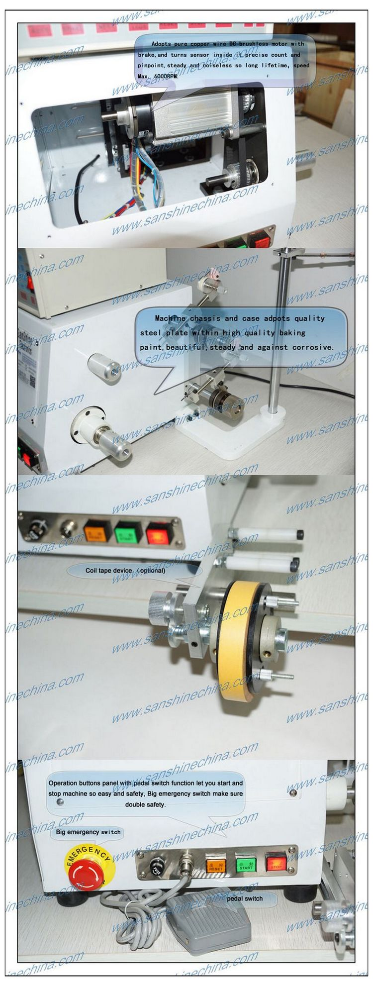 Two spindles automatic coil winding machine (SS600I )