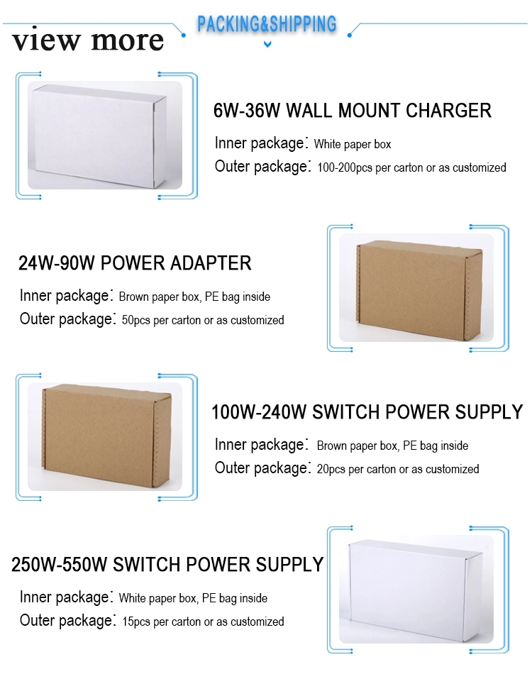 Plastic Shell Power Supply Desktop 24V 21A AC DC Power Adapter 500w