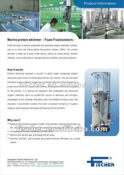 factory direct supply marine protein skimmer for fish farm 10m3/h.