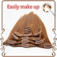 Straight Clip in Hair wholesale price Brazilian Virgin human Hair Extension
