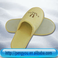 soft hot selling personalized cheap velour indoor slipper