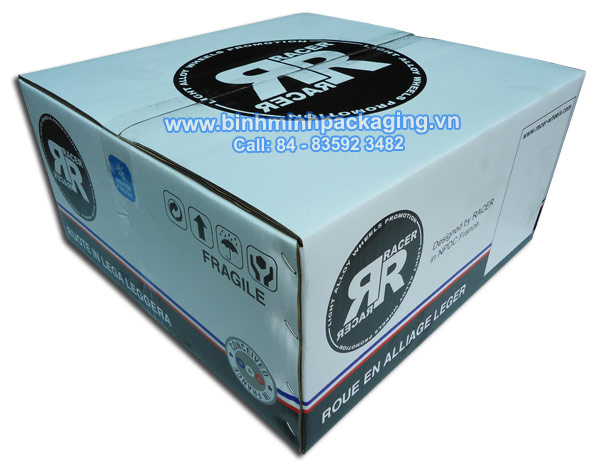 Box Carton Packaging For Car Wheels
