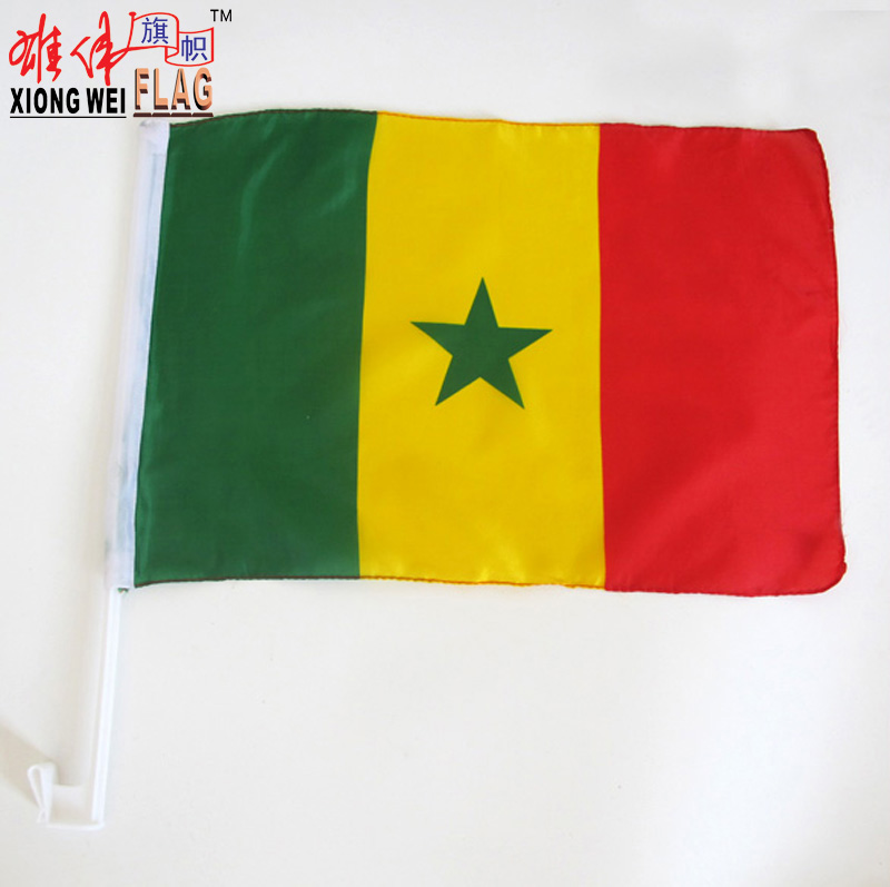 NF 998 senegal blank car flags wholesale Formulate style
