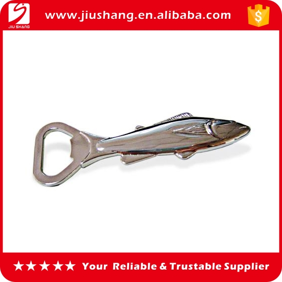 Custom made 3d fish shaped metal beer bottle opener
