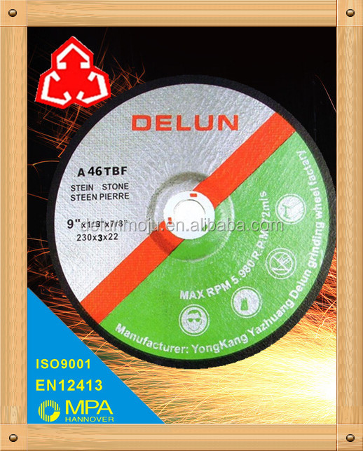 "T27 9"" 230mm grinding wheel cutting disc"