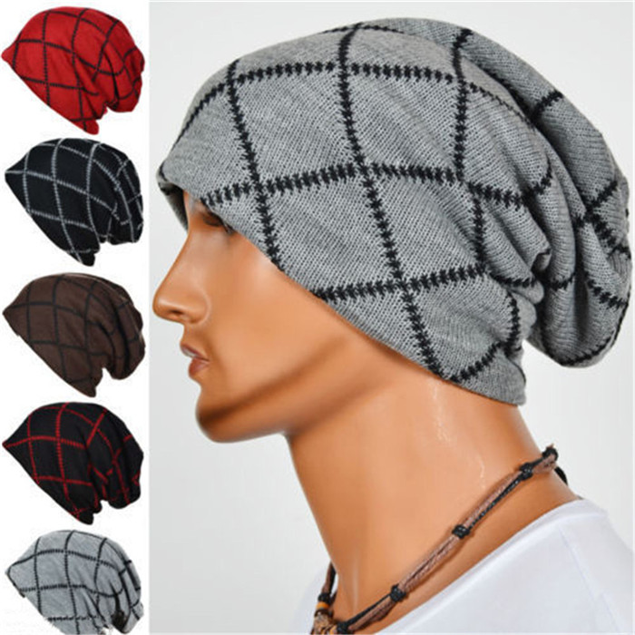 Invierno cálido unisex de punto de esquí de ganchillo slouchy hat ...