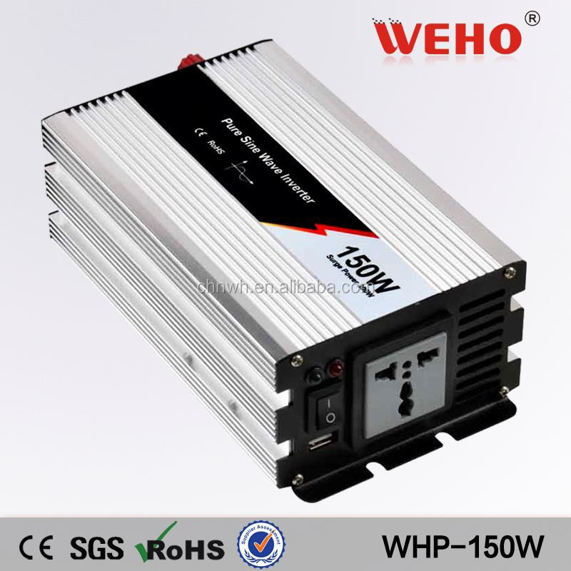 AC 12/24/48V ce-rohs 150w dc to ac pure sine wave mini car power inverters