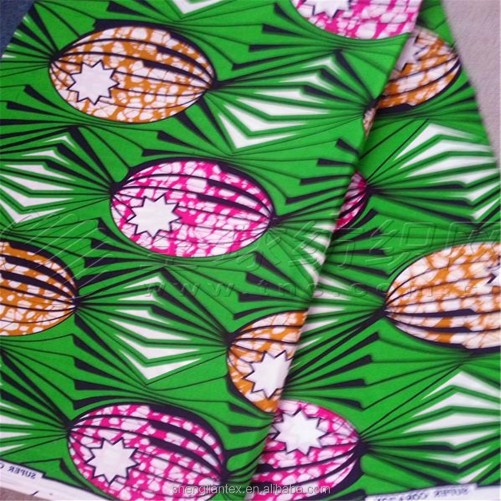 75D polyester pongee woven fabric african print fabric super wax