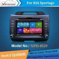 2-din touch screen car dvd player for sportage with 3g/wifi internet,DSP audio,DVR,CD copy,mirror link