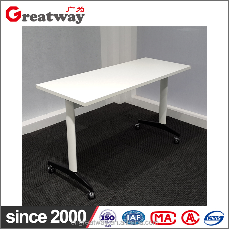 Oval tube MFC modesty top hotsales folding table (QM-06)