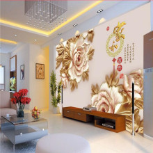 3D flowers window Mural beautiful wallpaper murals
