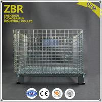 Mental Box Pallet Welded Wire Mesh Cages Collapsible Steel Rigid Container
