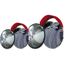 Unbreakable acrylic traffic safety convex mirror