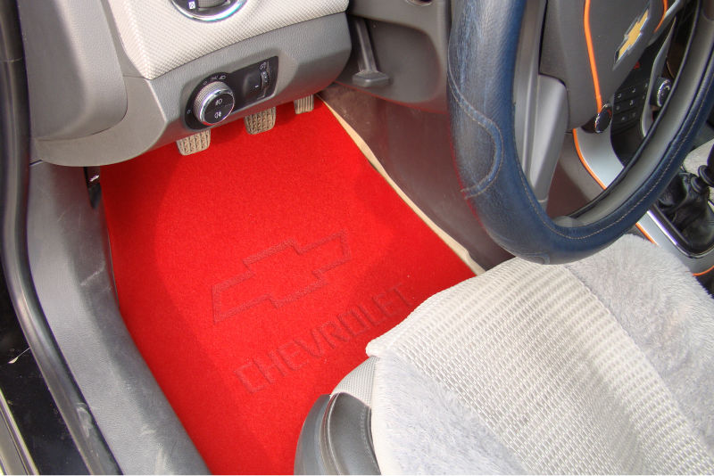 red PVC floor car mats from China