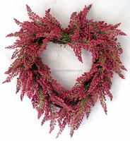 Beautiful red, purple Berry Heart Shaped Wreaths